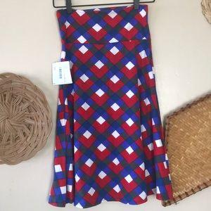 Lularoe printed Azure skirt NWT S